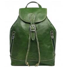 Кожаный рюкзак Bottega Carele BC701-green зеленый