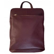 Кожаный рюкзак Bottega Carele BC704-bordo вишневый