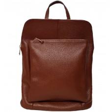 Кожаный рюкзак Bottega Carele BC704-brown коричневый