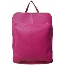 Кожаный рюкзак Bottega Carele BC704-fuchsia фуксия