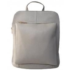 Кожаный рюкзак Bottega Carele BC704-grey серый