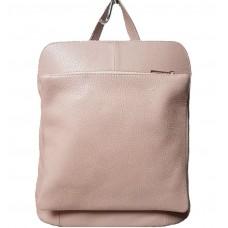 Кожаный рюкзак Bottega Carele BC704-pink розовый