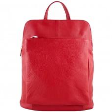 Кожаный рюкзак Bottega Carele BC704-red красный