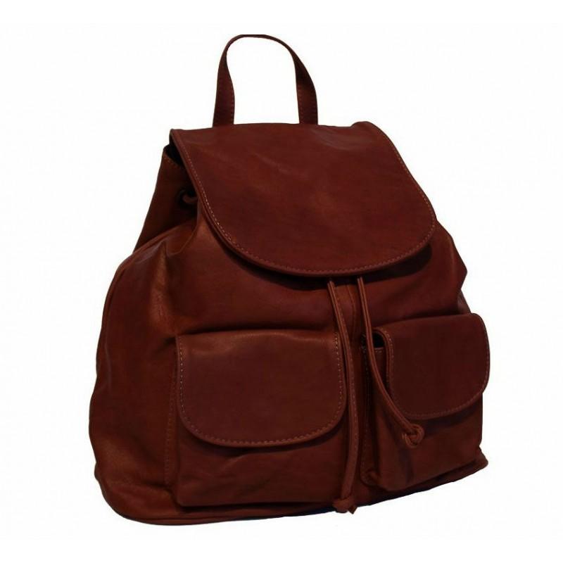f34cc5a5a0f6 Кожаный рюкзак Bottega Carele BC707-brown коричневый итальянский ...
