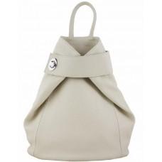 Кожаный рюкзак Bottega Carele BC709-beige бежевый