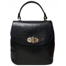 Кожаный женский рюкзак Bottega Carele BC726-black черный