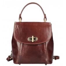 Кожаный женский рюкзак Bottega Carele BC726-brown коричневый