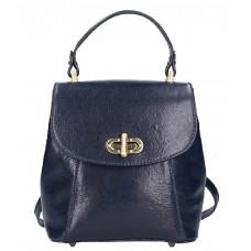 Кожаный женский рюкзак Bottega Carele BC726-blue синий