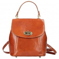 Кожаный женский рюкзак Bottega Carele BC726-ginger рыжий