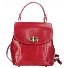 Кожаный женский рюкзак Bottega Carele BC726-red красный