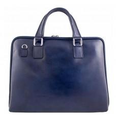 Кожаный портфель Bottega Carele BC801-darkblue тёмно-синий