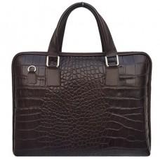 Шкіряний портфель Bottega Carele BC8012-darkbrown темно-коричневий