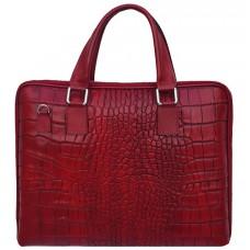 Шкіряний портфель Bottega Carele BC8012-red Червоний