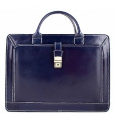 Кожаный портфель Bottega Carele BC802-darkblue тёмно-синий
