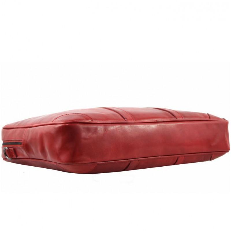 b5e1ff1cf062 Кожаный женский портфель Bottega Carele BC805 красный итальянский ...