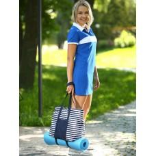 Сумка Alba Soboni 183801 синий/белая полоса