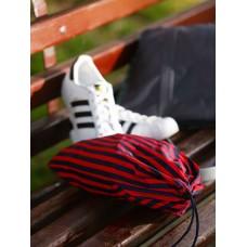 Мешочек для обуви Alba Soboni 183832 синий/красная полоса