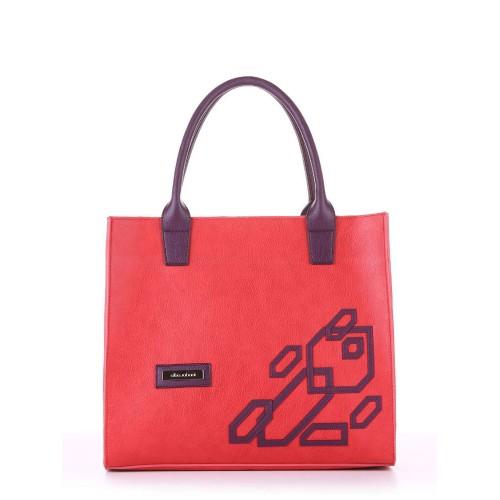 Сумка Alba Soboni E18003 красный-баклажан