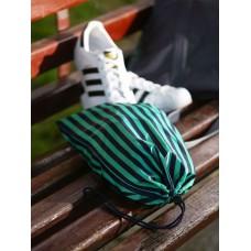Мешочек для обуви Alba Soboni 183833 синий/зелёная полоса