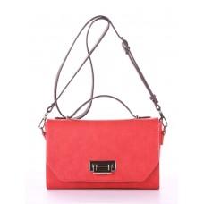 Деловая сумочка Alba Soboni E18013 красный-баклажан