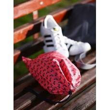 Мешочек для обуви Alba Soboni 183835 коралловый/серый