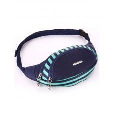 Сумка на пояс Alba Soboni 183873 синяя/зелёная полоса