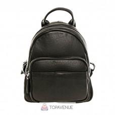 Женский кожаный рюкзак AMO ACCESSORI AMO91017black черный