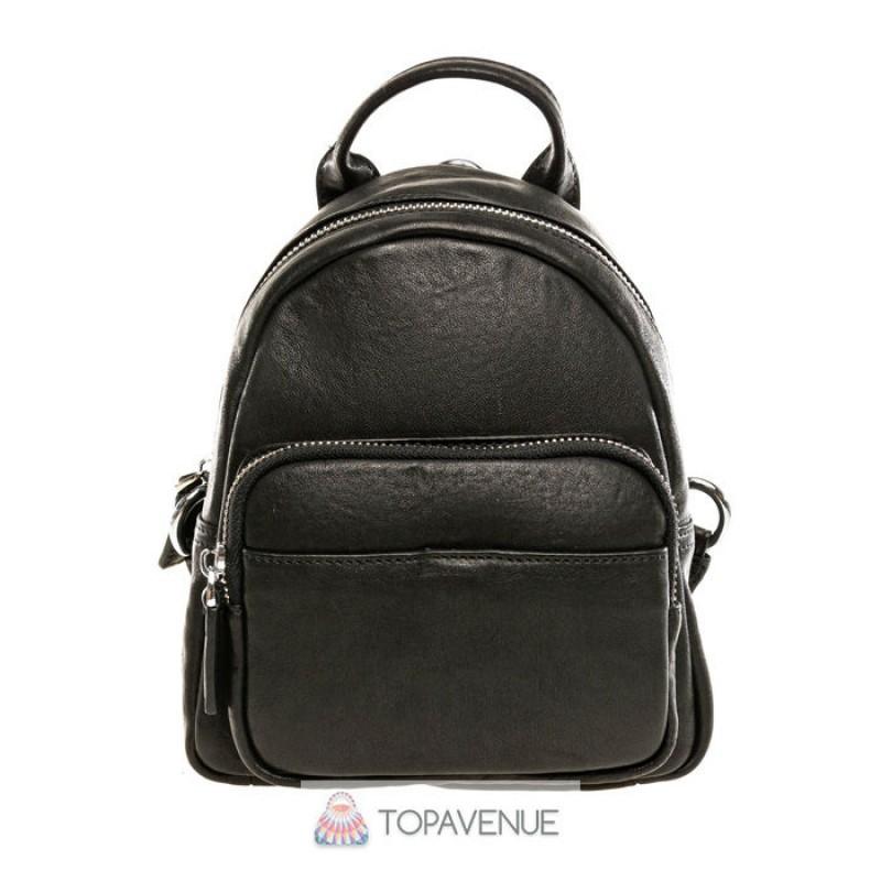 8244424f6277 Женский кожаный рюкзак AMO ACCESSORI AMO91017black из Италии ...