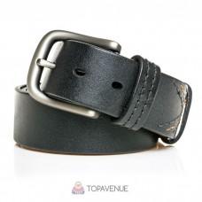 Кожаный ремень под джинсы AMO ACCESSORI AMOA-02-40black черный