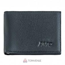Кожаный зажим для денег AMO ACCESSORI AMO161-1black черный