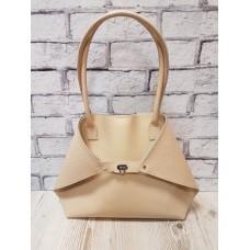 Женская сумка ANKO Флай натуральная кожа слоновая кость с плетенкой