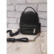 Рюкзак-сумка ANKO Мини натуральная кожа черный флотар