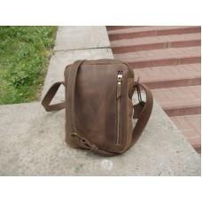 Кожаная сумка универсальная 536051 коричневая