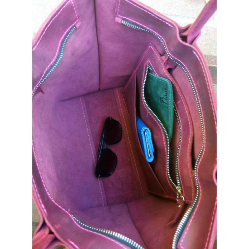 32866fe540c7 Женская кожаная сумка Shopper Marsala 894066 бордо — купить недорого ...