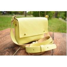 Женская кожаная сумка 877015 лимонная