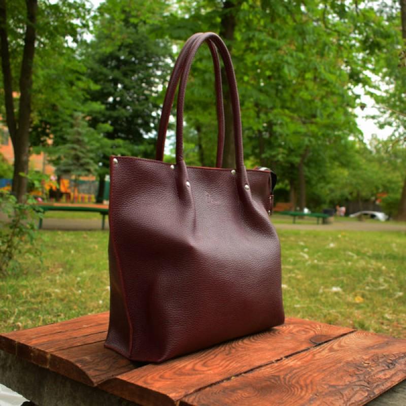 ea6c91871b9c Кожаная сумка Shopper Bordo-shine 894013 бордо BABAK купить недорого ...