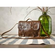 Портфель кожаный BABAK Folio Nut 863083 коричневый