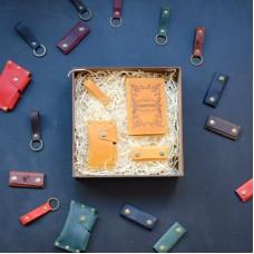 Набор кожаных аксессуаров BABAK Evora рыжий