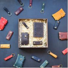 Набор кожаных аксессуаров BABAK Evora коричневый