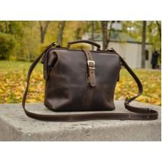 Сумка кожаная BABAK Classic Brown 906051 коричневая
