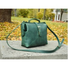 Сумка кожаная BABAK Classic Green 906077 зеленая