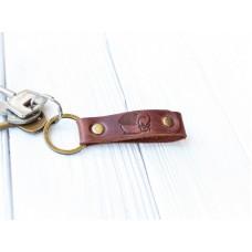 Кожаный брелок BABAK Key Cognac 95065 коньяк