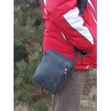 Кожаная сумка универсальная 536076 черная