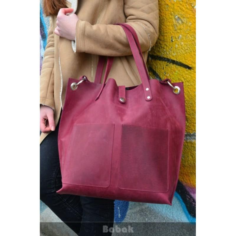 2f286dec48a2 Женская кожаная сумка Tote Marsala 857066 бордо — купить недорого в ...