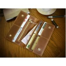 Кожаное портмоне 112051 коричневое