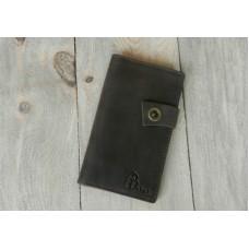 Кожаное портмоне 121051коричневое