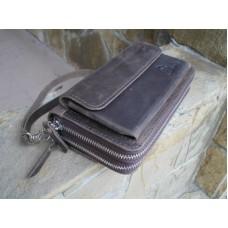 Кожаное портмоне 128051 коричневое