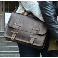 Кожаный портфель 863551 коричневый
