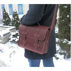 Кожаный портфель 863565 коньяк
