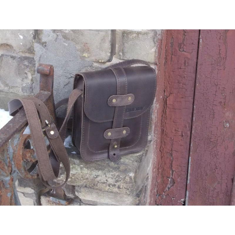 Шкіряна сумка Сrossbody 868051 коричнева — купити недорого в ... f0723905d6933
